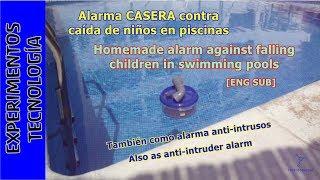 Alarma contra caída de niños en piscinas. #TupperElectrónica
