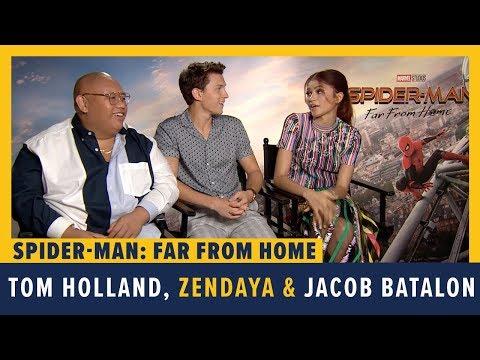 Tom Holland, Zendaya And Jacob Batalon Talk SPIDER-MAN: FAR FROM HOME