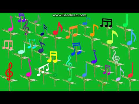 Music Note Flowers Vector (Free To Use)