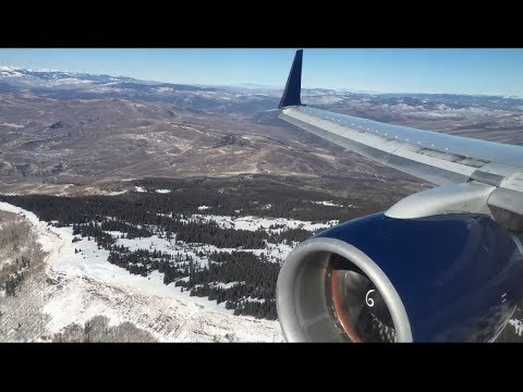 Delta Airlines Boeing 757-200 (Winglets) Beautiful Landing at Eagle County Regional Airport