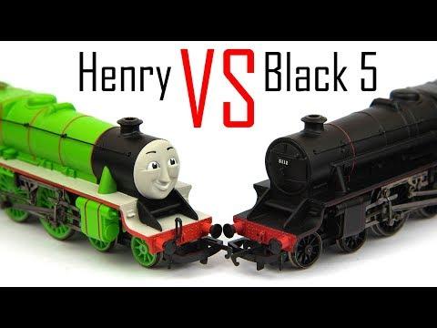 Hornby Henry vs Black 5 (CRASH ALERT)