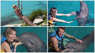 Nado com golfinhos, tirolesa, ilha das mulheres -Cancun dia 3
