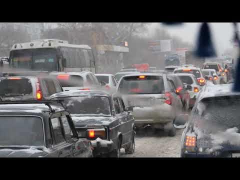 Снегопад в Барнауле (18.11.2019)