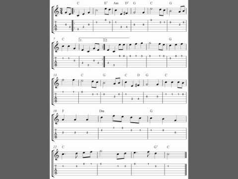 Guitar national anthem guitar tabs : Guitar tab, The Star-Spangled Banner, easy guitar tablature sheet ...