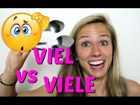 GERMAN FAQ: The difference between VIEL and VIELE, WIE VIEL and WIE VIELE