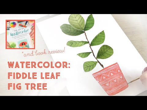 watercolor-tutorial:-how-to-paint-a-plant-and-the-joy-of-watercolor-book-review!!
