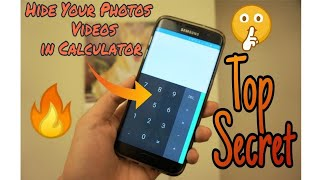 How to hide photo & video in calculator  | HIDE your SECRET FILES in CALCULATOR! 😱 Best tricks