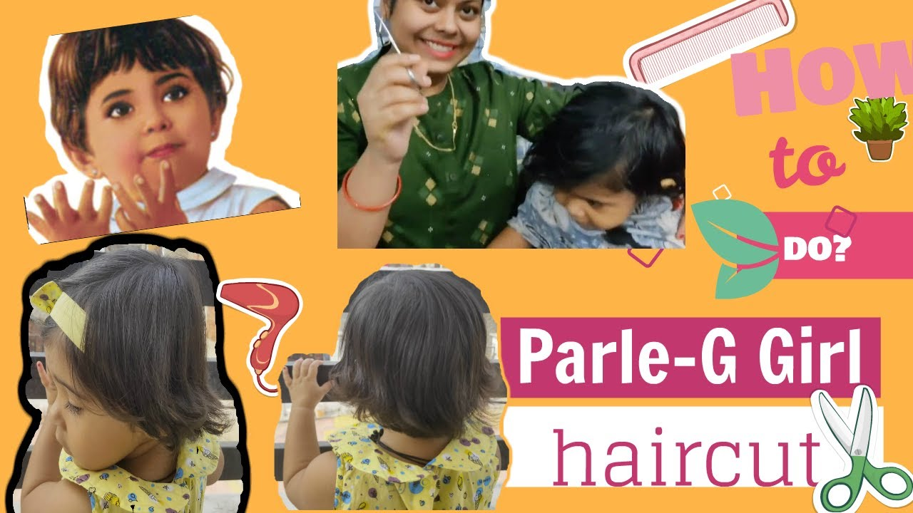 Indian Baby Girl S First Haircut Like Parle G Girl In Just 5 Minutes How To Cut Baby S Hair At Home Youtube