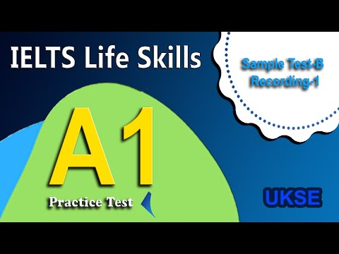 IELTS Life Skills Sample Test-2 Recording-1 (Section-2a)