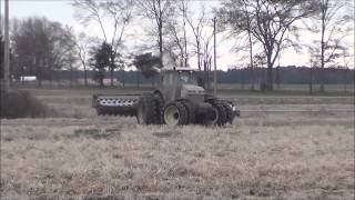 Rolling a Rice Field in Arkansas with a Versatile 305 Tractor