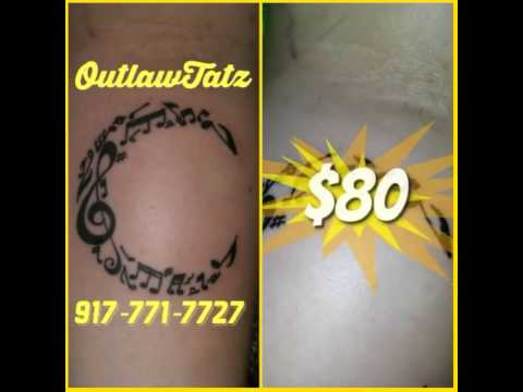 Music notes tattoo by OutlawTatz