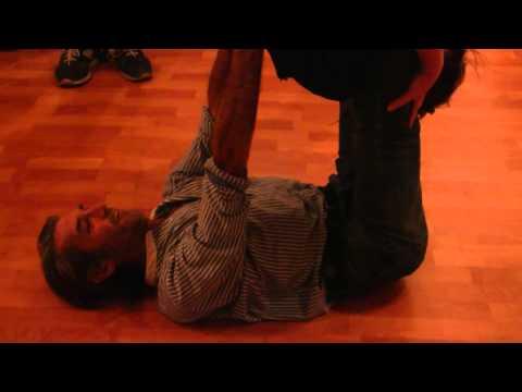 Ken Scott (Nateshvar) & Ana Bokstrom Impromptu contact yoga session