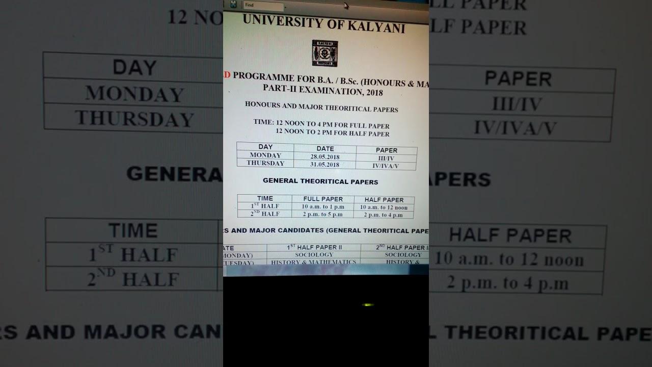 Top Twelve Ba 1st Year Result 2017 Up Kalyani University {Kwalai}