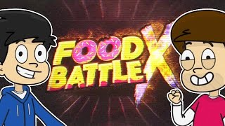 FOOD BATTLE X CARTOONS