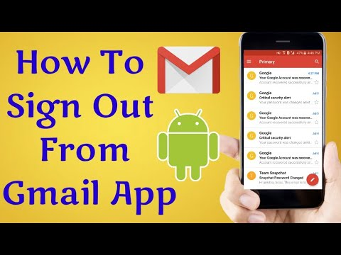 How To Sign Out GMAIL Account From GMAIL APP In Android Phone