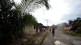 Ecuador Day 5 April 2013 - Walking through Ahuano (Amazon) to visit balsa wood carver