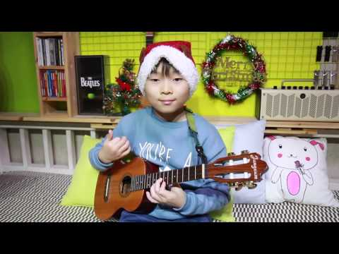 Jingle Bells (ukulele cover by 9year-old kid Sean Song)