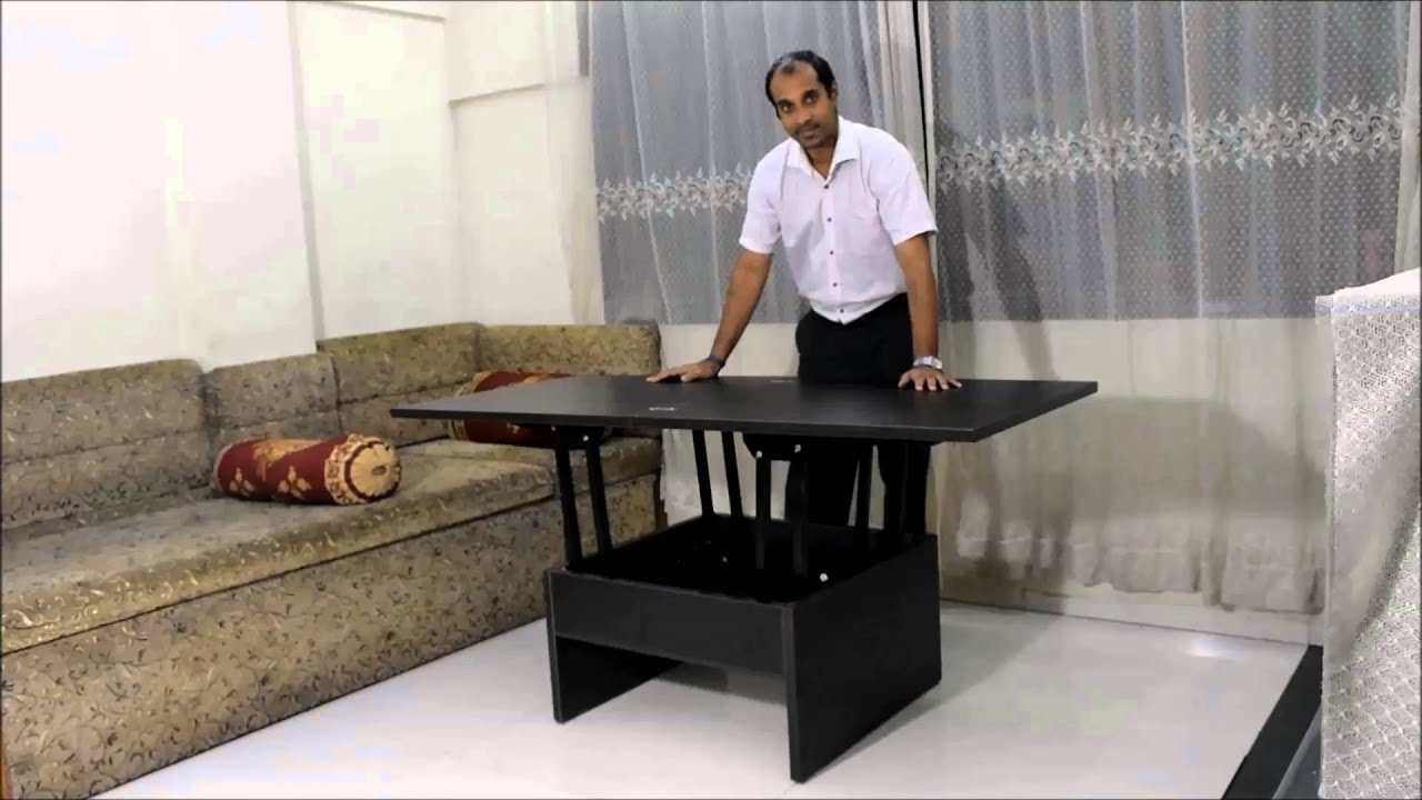 Smart Space Saving Coffee Converts To Dining Table