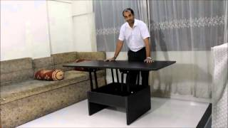 Smart Space Saving Coffee converts to Dining Table.