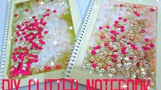 DIY glitter notebook