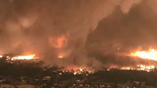 Video released of California fire tornado that killed firefighter