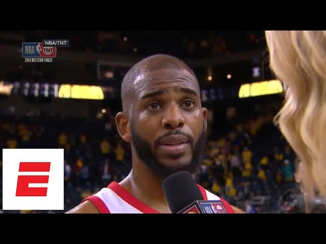 Chris Paul gets emotional talking about bringing 2-2 series back to Houston   ESPN