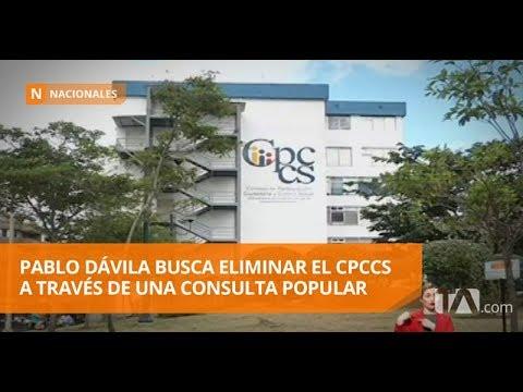 Pablo Dávila Busca Eliminar El CPCCS A Través De Una Consulta Popular -Teleamazonas