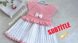 Gehaakte jurk / mooi en elegant jurkmodel / voor 1-2 leeftijden