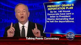 President Obama ordering illegal aliens out of the country