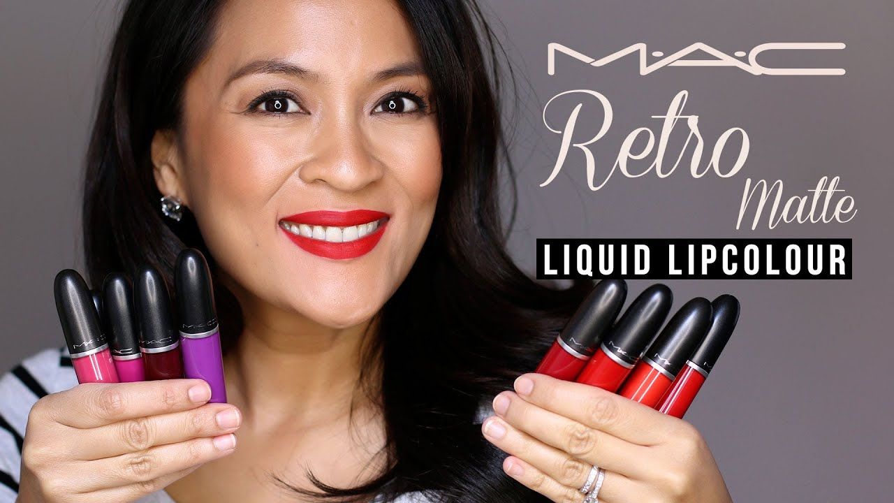 The Mac Retro Matte Liquid Lipcolours Review Swatches Youtube