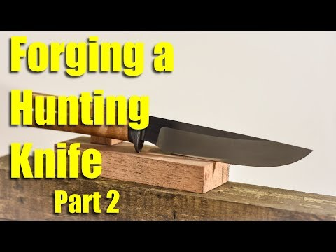 Forging a Hunting Knife with a Damascus Steel Guard - Part 2