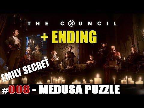 """The Council Walkthrough Ep.1 THE MAD ONES #007 """"Medusa Puzzle, Emily Secret"""" ENDING"""