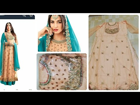 amazon-gowns-unboxing amazon-anarkali-dress online-shopping-review amazon-clothing-review