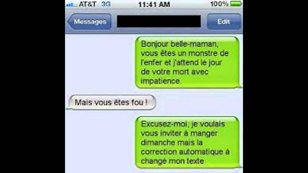 Fabuleux blague sms - YouTube WZ84