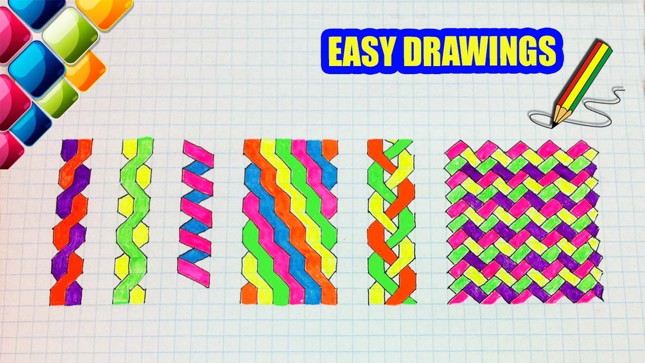 Easy drawings #266 How to draw a Patterns in the notebook ...