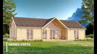 Gotowy dom drewniany letniskowy/całoroczny DOMINEK VSP55 - 109 m2