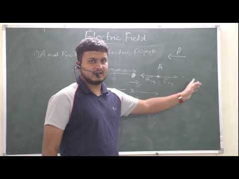 """ELECTRIC FIELD DUE TO ELECTRIC DIPOLE"" FOR CLASS 12 PHYSICS BY NIGAM SIR"