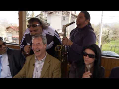 Ukip leader Nigel Farage visits Bulgaria