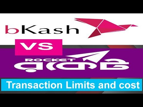 bkash apps vs Roket apps Transaction Limits and cost