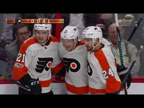 Travis Konecny Goal - Philadelphia Flyers vs Ottawa Senators 10/26/17