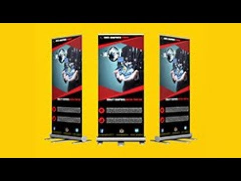 how to design roll up banner 2018