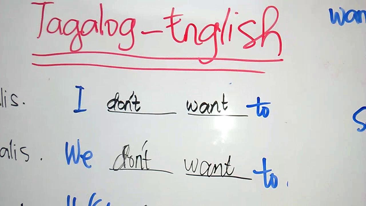 Tagalog English Translations Part 1 Youtube