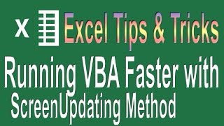 Running VBA code faster with Screen Updating Method | Excel VBA Tips n Tricks #4