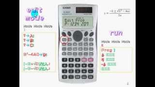 Casio FX 3650 / 50FH how to program 如何輸入程序