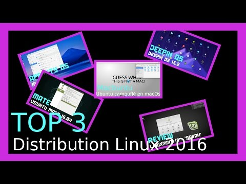 Top 3 distributions Linux 2016