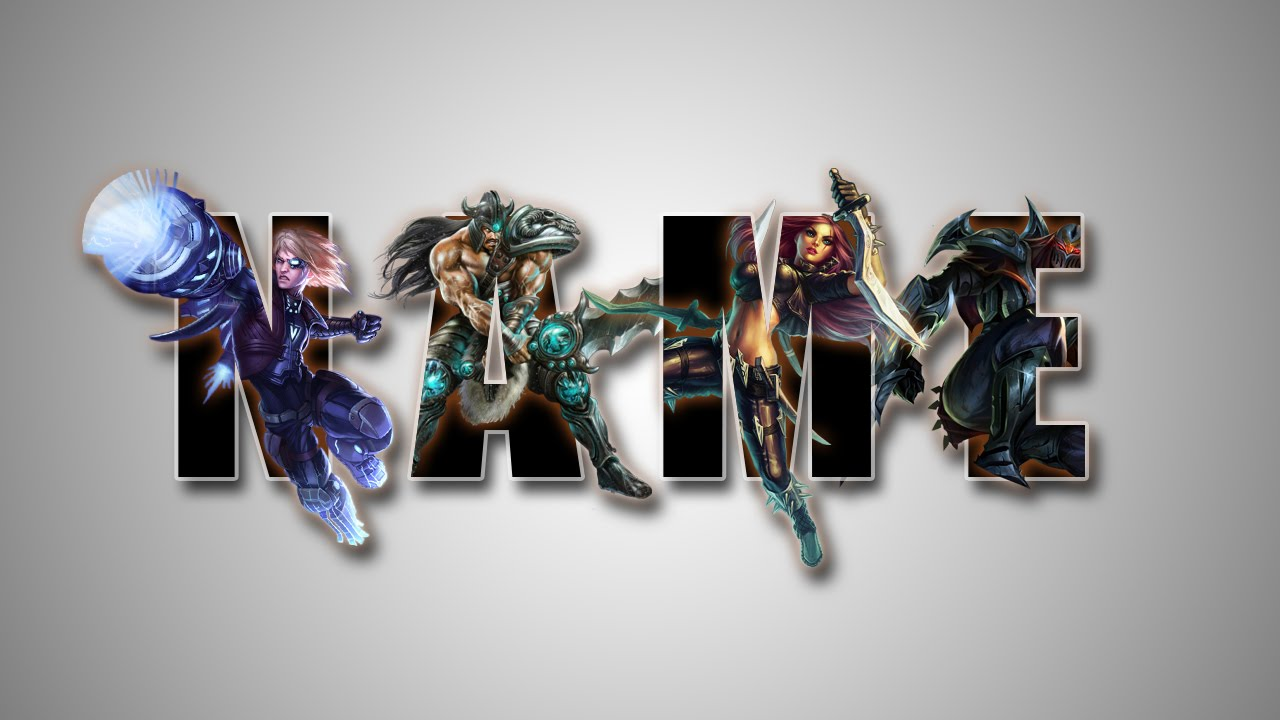 Photoshop tutorial create league of legend text effect youtube baditri Gallery