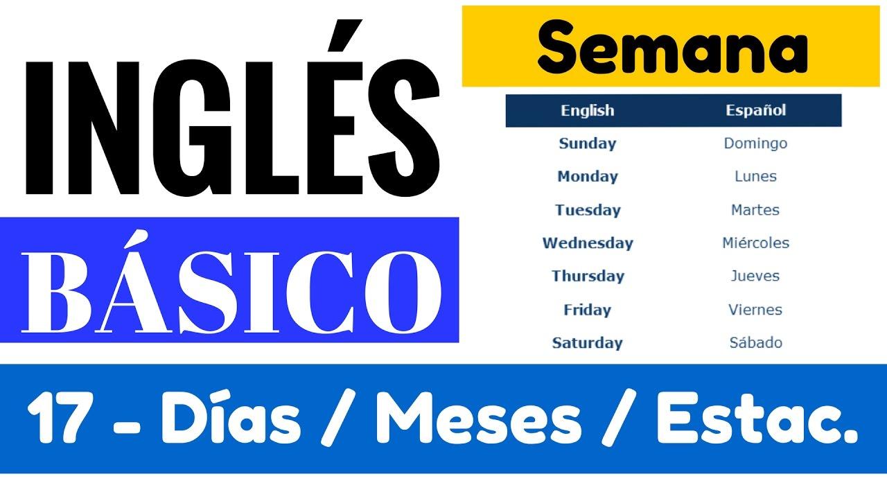 Dias De La Semana Meses Y Estaciones Del Ano En Ingles Yes En