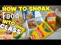 5 Genius Ways To Sneak Food Into Class When You're Hungry - School Hacks For Kids (HOW TO HACK)