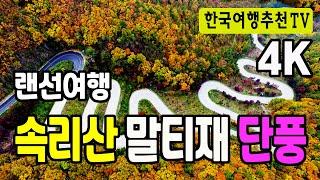 랜선여행 속리산 말티재 단풍 - 한국의아름다운길100선…