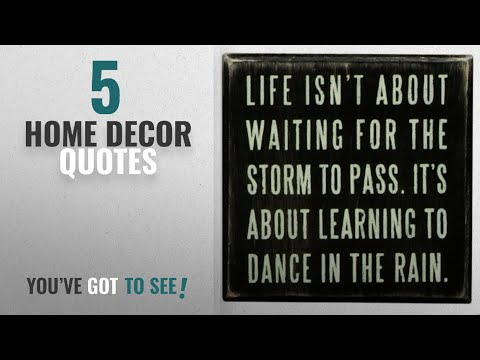 Top 10 Home Decor Quotes [2018 ]: Primitives By Kathy Box Sign, Dance In The Rain,4x4 Inch